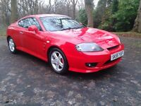 2005/55 HYUNDAI COUPE 1.6 S ONLY 83000 MLS LEATHER FSH