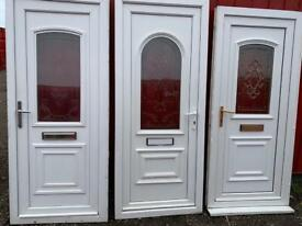 Approx 200 Upvc double glazed front and back doors job lot bulk buy only !!