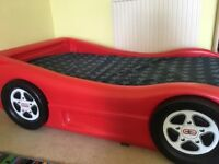Children's car bed.