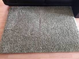 Rug thick pile green 120x170cm