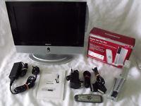 DMTech LM17DB TV/DVD Combo & DURABRAND DVB-T Digital Set Top Box CG566