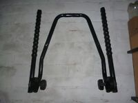 Bicycle Rack - wall mounted. Takes up to 2 adult size bikes