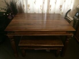 Indian Wood Dining Table