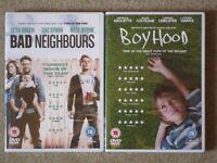 2 DVDs: 'Boyhood', 'Bad Neighbours'