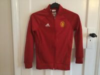 Boys Red Adidas Manchester United Jacket, in excellent condition!!