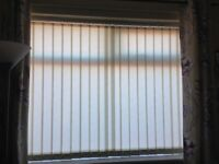 3 sets of cream vertical blinds, as new condition