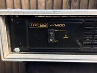 TAPCO (Mackie) J-1400 POWER AMP Inc flight case