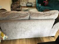 Large 2 seater sofa chocolate and mink