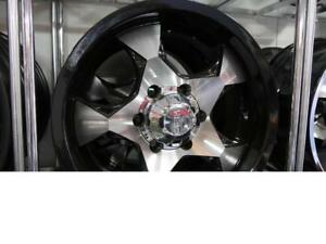 17 INCH NEW BLACK & MACHINED +CHROME  OFFROAD RIMS - NEW SALE 6X135 ORM