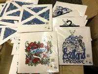200 x Wholesale Joblot Amazing Quality Women White Scotland Short Sleeve T-shirts