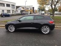 2010 Volkswagen SCIROCCO 2.0 GT TDI CR Full Service History 12months MOT Black HPI CLEAR