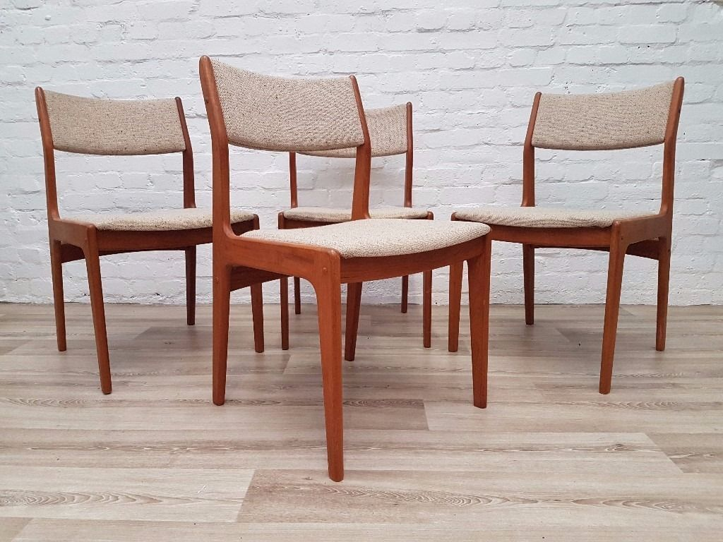 Four Vintage D Scan Dining Chairs Delivery Available