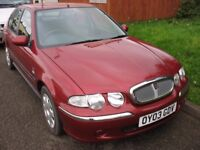 ROVER 45 2003 1396cc Manual, spares repairs Red MOT June 2018 starts and drive fine. 5 - door. Taxed
