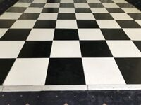 black and white dancefloor 16 by 16 ft and in very good condition