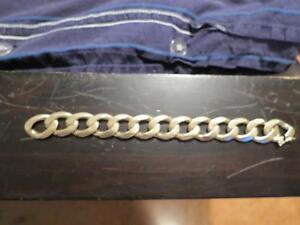 Nice Heavy Mens 10k Solid Gold Curb Link Bracelet 88.7 grams