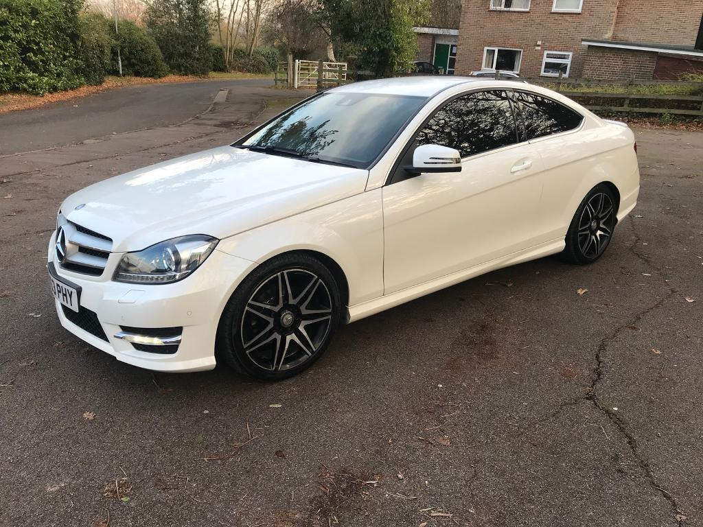 2014 mercedes c220 w204 coupe white automatic in. Black Bedroom Furniture Sets. Home Design Ideas