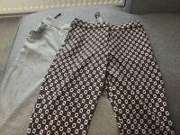 Cigerrete style trousers both size 8