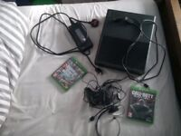 Xbox one 1TB, 2 games, power/hdmi/charger cables, controller & chat headset. good condition.