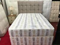 King size Sylvia Bed with floor standing headboard*free delivery*