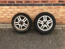 2 x Ford Focus Alloys W/tyres