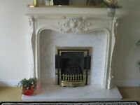 Louis style marble effect fireplace