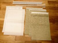 5 Ikea panel curtains/blinds and accessories