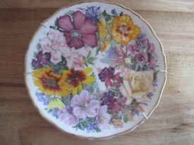 Royal Albert 'Birthday Bouquet' decorative plate by Sara Anne Scholfield