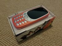 Nokia 3310 3G Warm Red. Sim Free. New/Unused. Sealed in box.