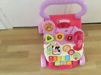 Pink baby walker excellent condition sfpf home