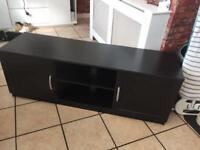 Black wood tv stand