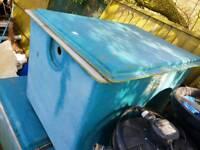 Large fibreglass water tanks