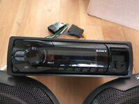 SONY XPLOD radio +Speakers +remote