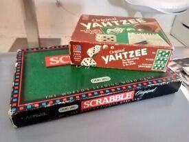 Scrabble and Yahtzee excellent central London bargain