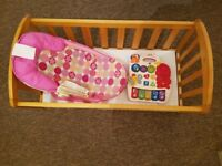 Baby Cot, Seat and Learning Game