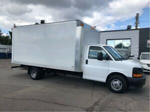 2017 GMC Savana 3500 16'cube finor lease from 4.99%oac