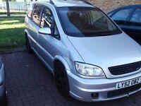 vauxhall zafira gsi silver 7 seater turbo
