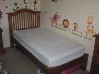 3 piece single oak bedroom set