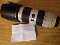 Canon 70-200mm F2.8 IS MK2 Excellent condition. .hardly used
