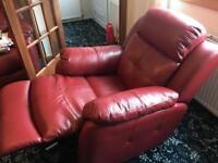 Harvey's vister leather suite