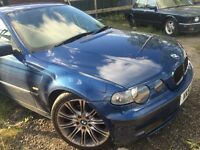 BMW 3 series compact e46 blue breaking for parts / spares