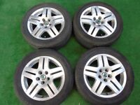 """VW POLO, SKODA FABIA 15"""" ALLOY WHEELS WITH CONTINENTAL TYRES 5 stud"""