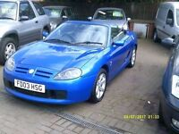 MG TF 1.8 135 2dr 2003 (03 REG) BLUE, 58000 MILES + SERVICE HISTORY, HPI CLEAR, NEW CAM BELT FITTED