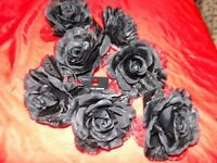 *CHARITY SALE* Beautiful Black Rose Brooch / Hair Accessory-- Never used!