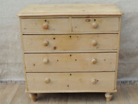 Large and chunky Victorian Antique chest of 5 drawers (Delivery)