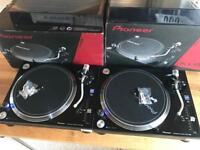 2x Pioneer PLX 1000 Turntables - Mint Fully Boxed Lids Technics 1210 Mk2 CDJ 2000