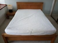 Double bed + mattress + side table