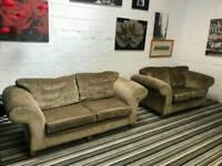 Gold crush velvet 3x2 sofa set