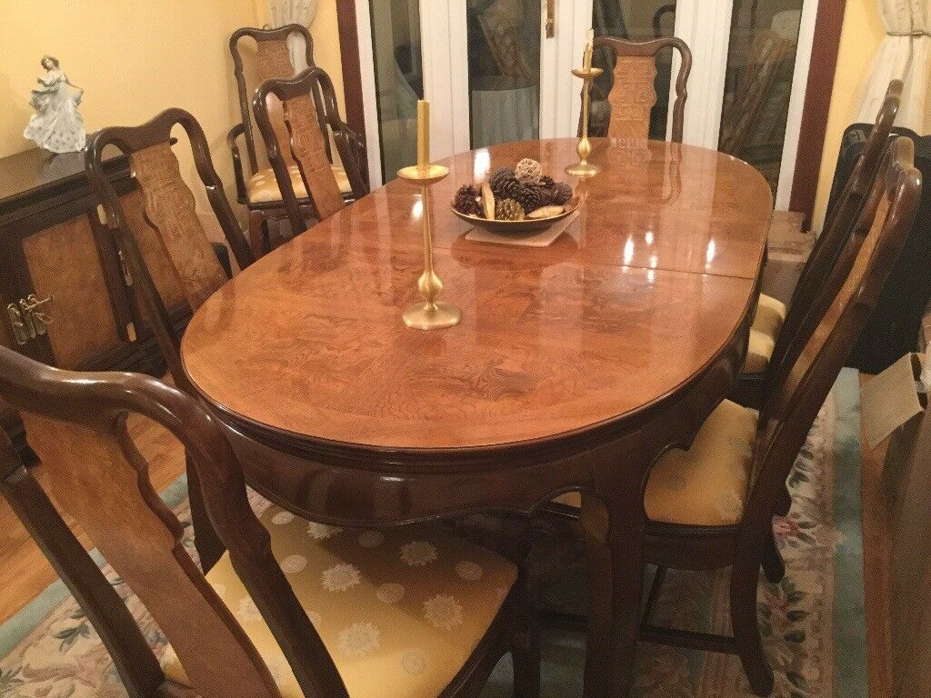Final Reduction Imperial Dynasty Dining Table 8 Chairs And Sideboard