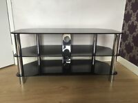 3 tier black glass TV stand - excellent condition