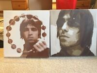 Noel Gallagher & Liam Gallagher Oasis square canvases
